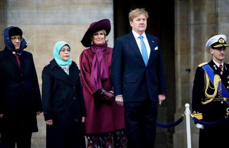 Les Pays-Bas reçoivent la présidente de Singapour