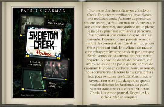 « Skeleton Creek : tome 1 » de Patrick Carman.