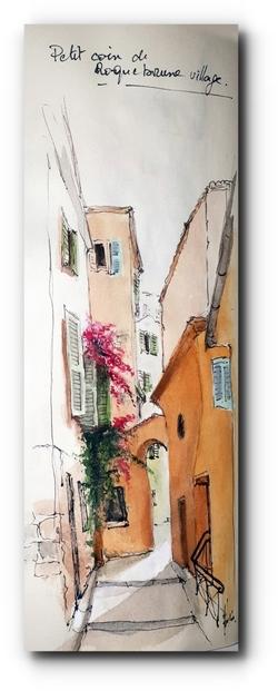 Roquebrune village...