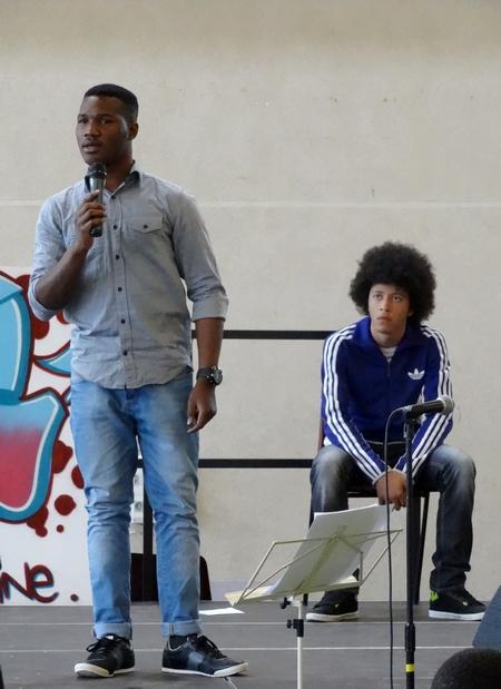 La scène ouverte du forum des jeunes...