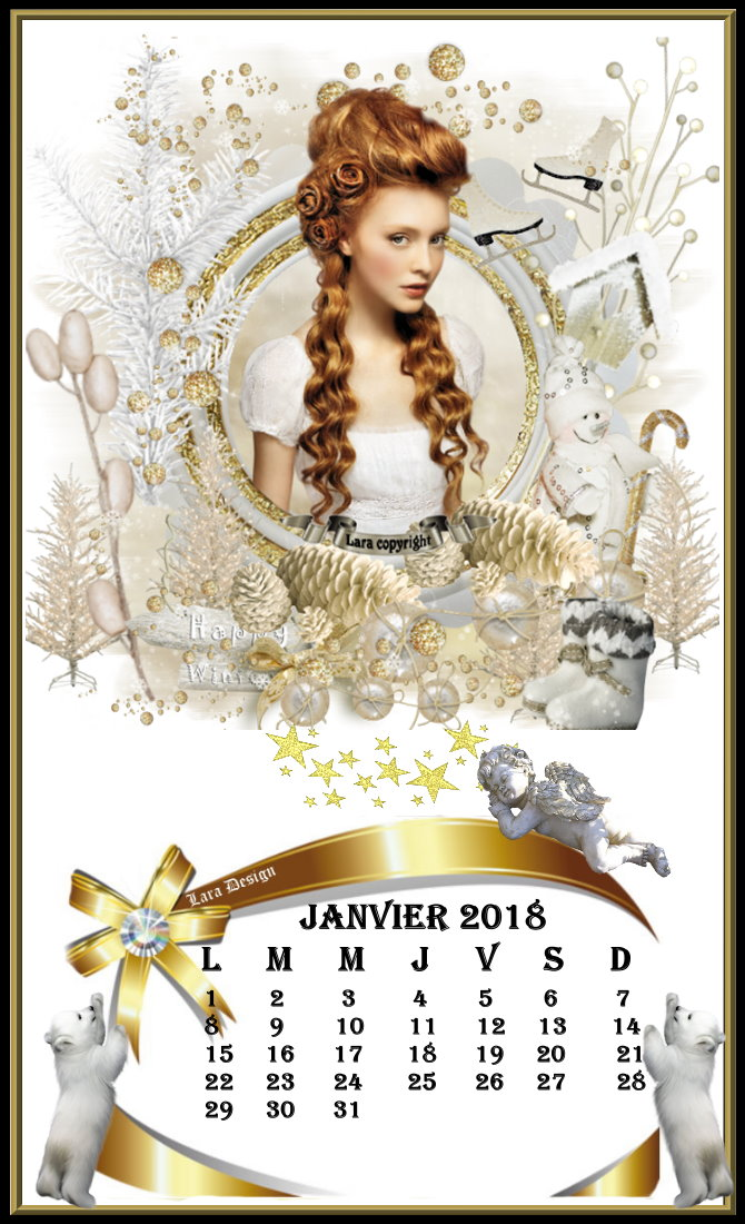 Calendrier Janvier 2018