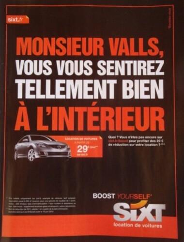 publicité politique Sixt Vals