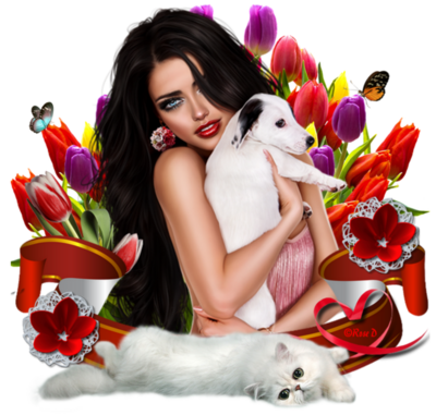 Femmes avec animal