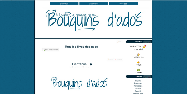 Bouquins d'ados [Avril 2015]