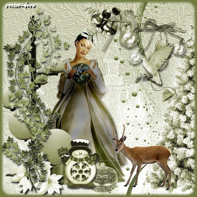 cadeau : cluster noel vert avec mes gifs
