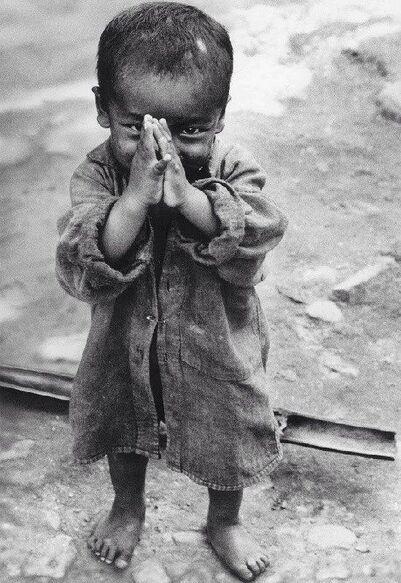 photographie noir et blanc enfant