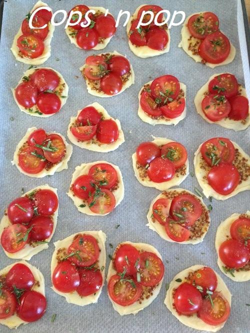 Mini tartelettes tomates pour l'apéro.