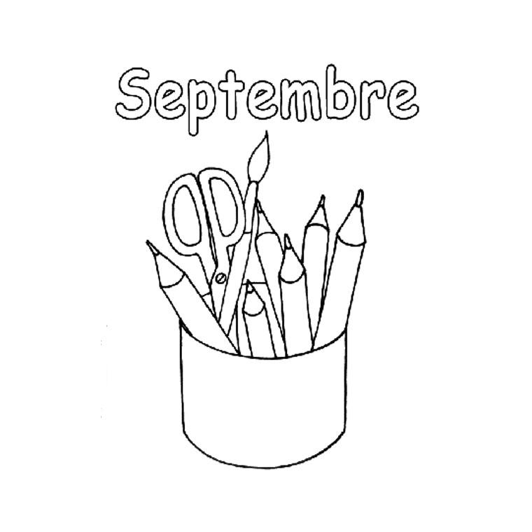 Septembre meroute en clis - Coloriage rentree des classes ...
