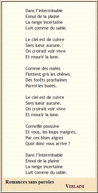 Hiver en poésie