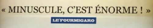 affiche cinéma Minuscule jeu de mot Fourmigaro