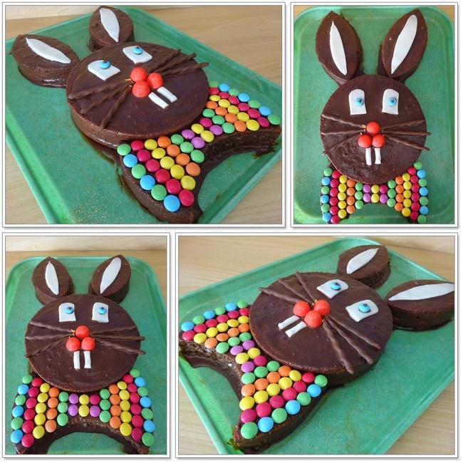 Gâteau Tête de Lapin (gâteau au yaourt et ganache chocolat)