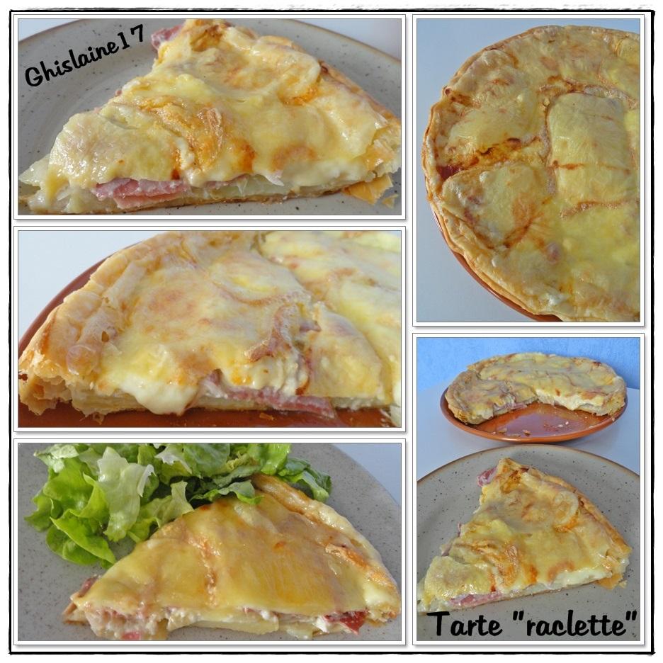 tarte raclette lardons pomme de terre