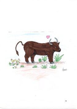Coloriages et dessins : le bœuf des Animots Rigolos  Sons Voyelles