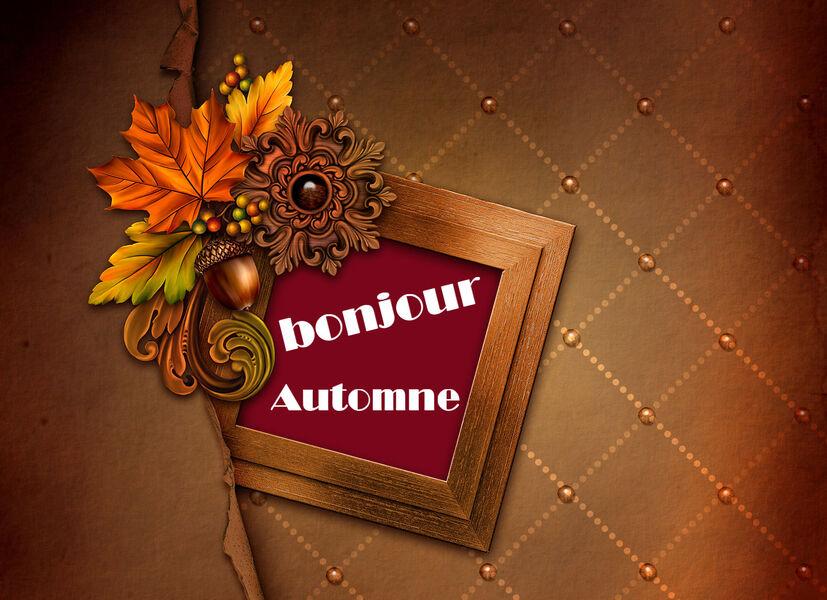 Fond d'ecran automne à personnaliser