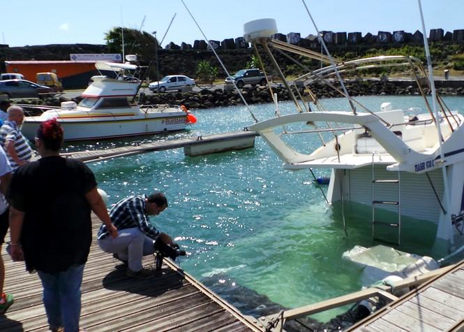 Port de Ste-Marie: Un bateau d'environ 8m a coulé