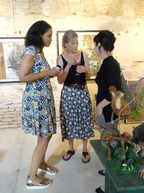 Karin Neumann a présenté son exposition d'été...