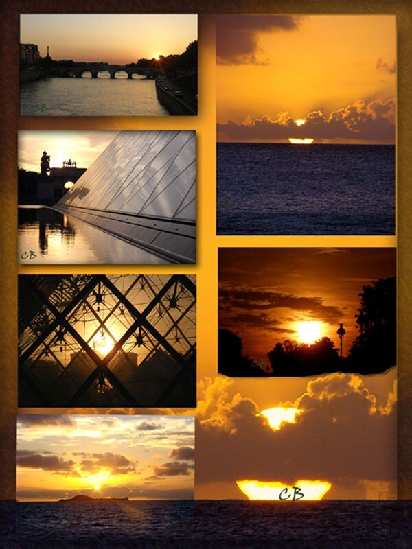 couchers de soleil montage photos