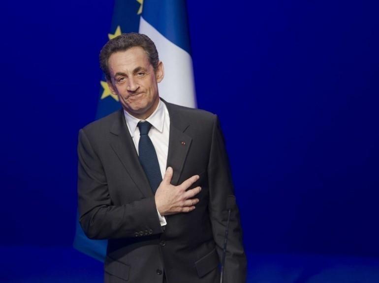 En images. L'heure de la défaite à l'UMP. Nicolas Sarkozy à La Mutualité le 6 mai 2012
