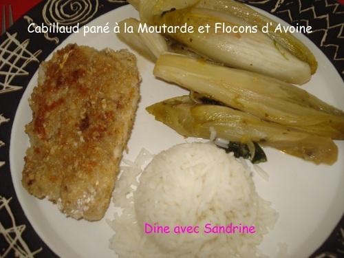 Du Cabillaud pané à la Moutarde et Flocons d'Avoine