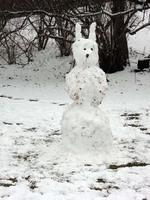 Schneehund am Leichweg