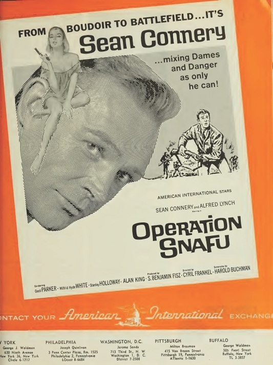 OPERATION SNAFU BOX OFFICE USA 1965