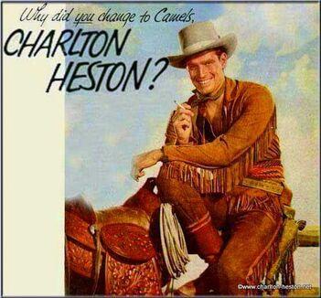 CHARLTON HESTON ET LA PUBLICITE