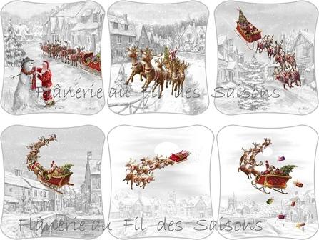 Cartonnettes Traineau père Noël !