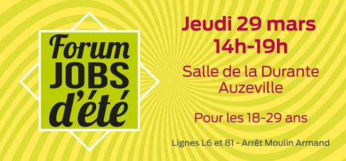 Forum jobs d'été le 29 mars à Auzeville