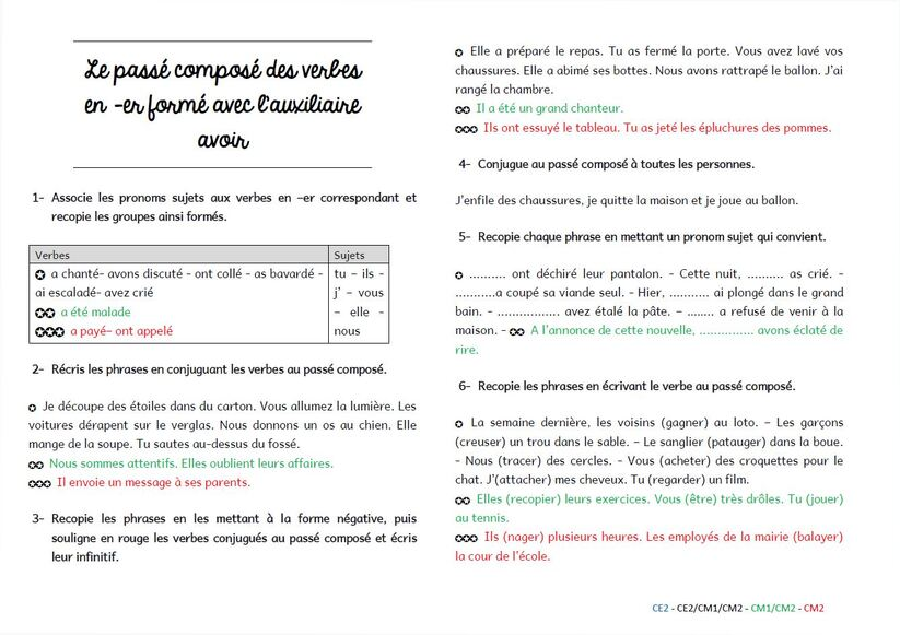 Grammaire au jour le jour : exercices de structuration format A5