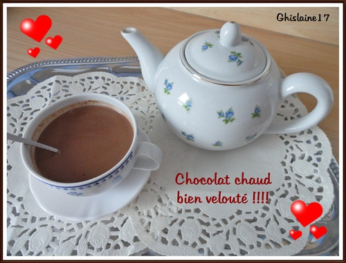 Chocolat chaud velouté !!!