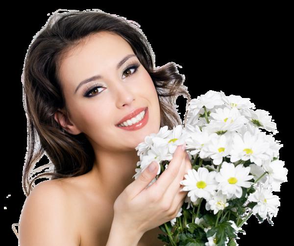 Femme avec des fleurs 2