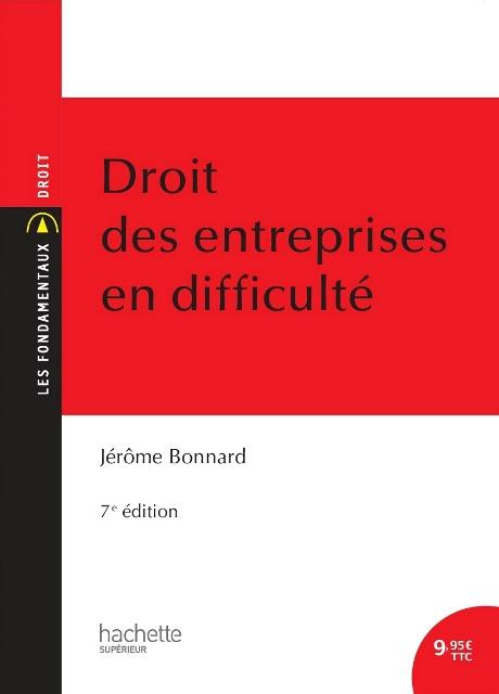 Jérôme Bonnard : Droit des entreprises en difficulté