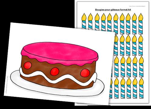Cycle 1 - Jeux mathématiques - Le gâteau d'anniversaire