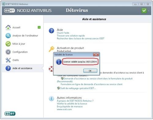Eset NOD32 Antivirus 7 - Licence 100 jours gratuits