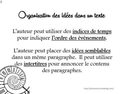 Organisation d'un texte