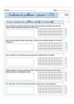 Evaluations période 1