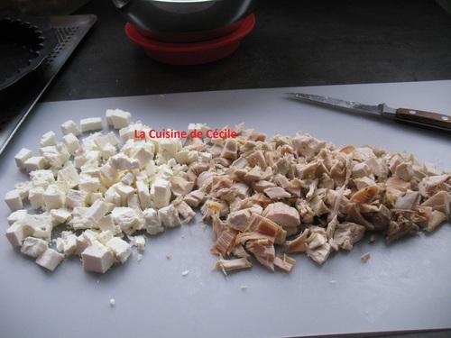 Quiche au Poulet et au fromage frais