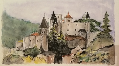 Aquarelle st Paul en cornillon 42