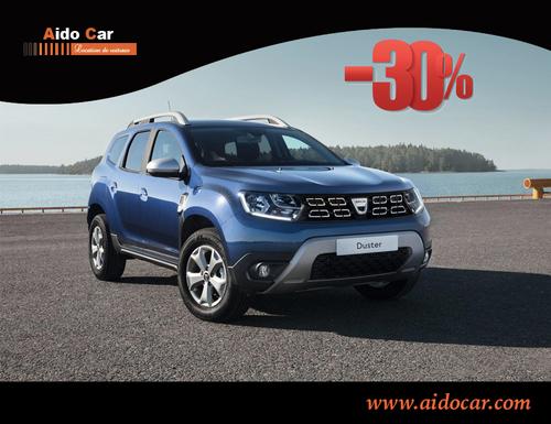 Promotion en location Dacia Duster au Maroc