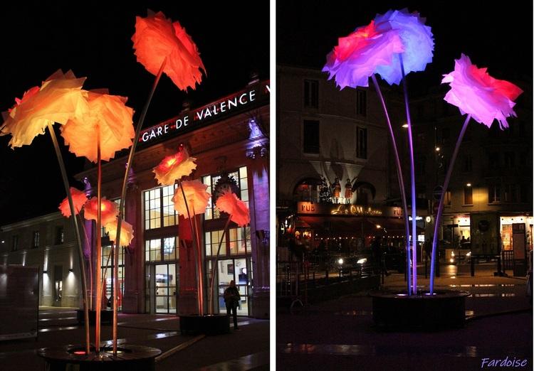 Illuminations à Valence : des fleurs pour les fêtes
