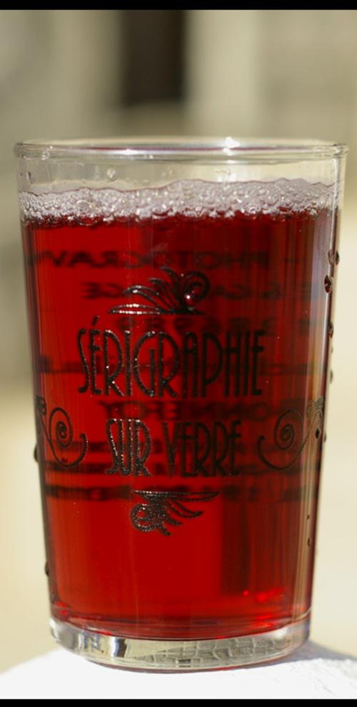 verre sérigraphié