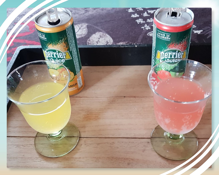 Perrier and Juice