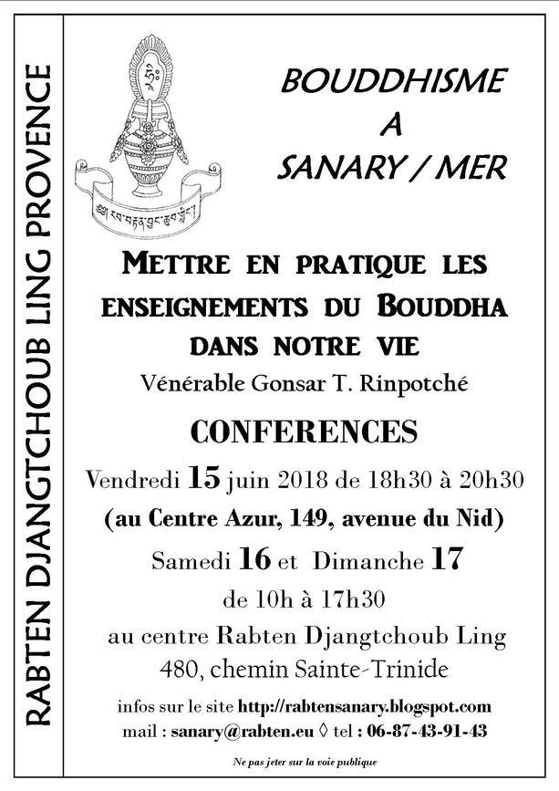 Enseignements bouddhistes à Sanary (Var)