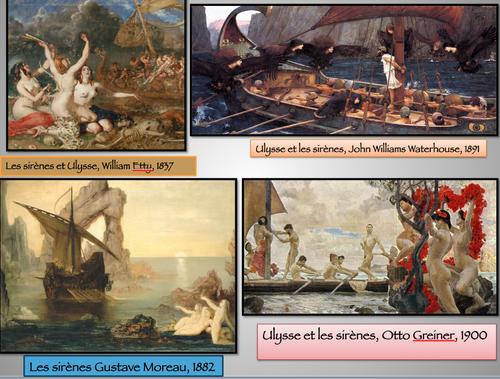 Ulysse et les sirènes ... en peinture