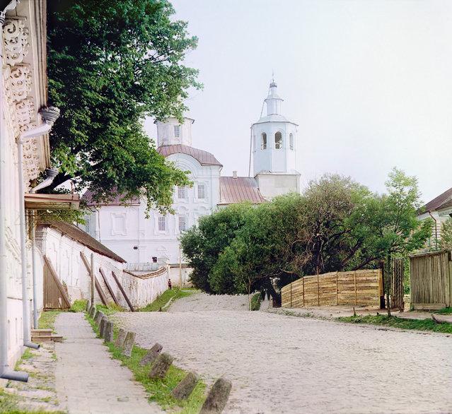 Photos by Sergey Prokudin-Gorsky. Avraamievskii Monastery. Russia, Smolensk Province, Smolensk, 1912
