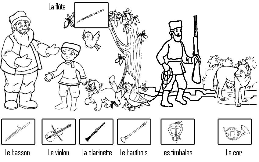 Pierre et le loup les cp de bujumbura - Coloriage pierre et le loup ...