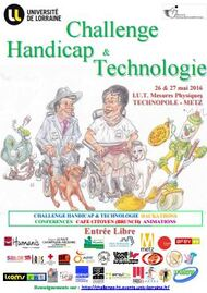 Challenge Handicap & Technologie et Hackathon, Metz, les (25), 26 et 27 mai 2016