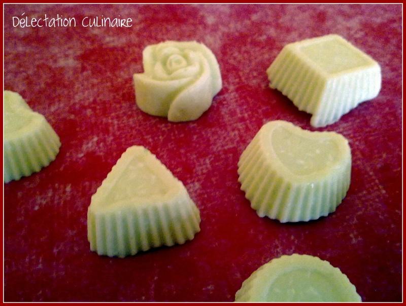 Petits chocolats blanc à la noix de coco