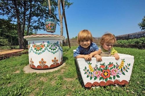 Pologne, maisons décorées