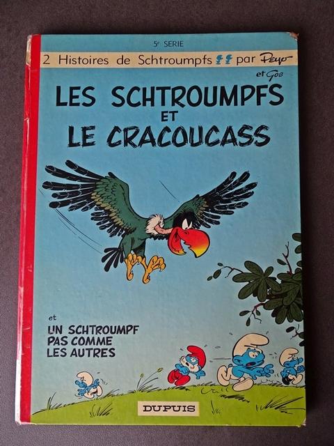 les schtroumpfs et le cracoucass édition originale